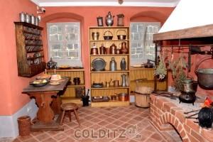 Eine Schwarzküche im Haupthaus