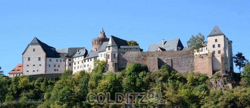Weithin sichtbar - die Burg Mildenstein Leisnig