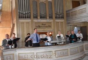 Musikalische Umrahmung durch Mark Zocher (Orgel) und dem Kirchenchor Zschirla-Erlbach