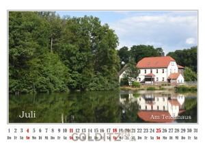 Juli-Blatt des Colditz-Kalenders