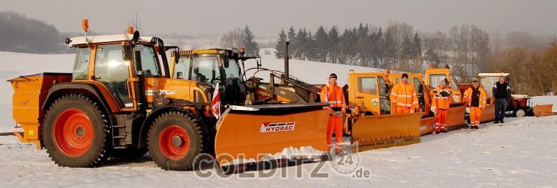 Winterdienst  der Gemeinde Zschadraß 2009/10 - mit dabei Steffen Kretzschmar,