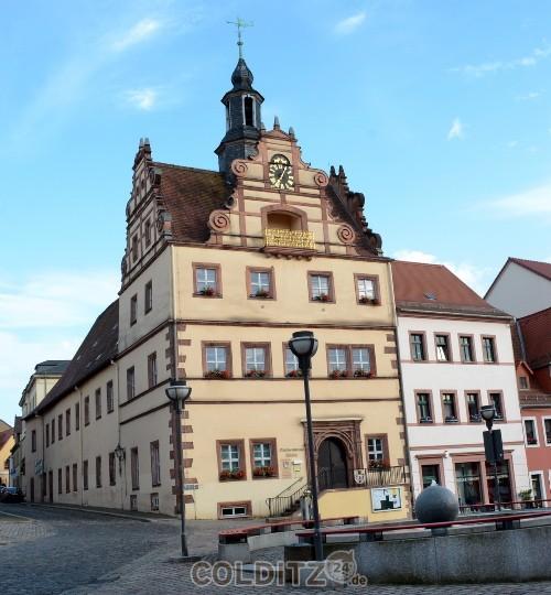 Daas Colditzer Rathaus vor der Sanierung