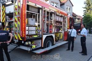 Feuerwehrmänner sind über die tolle Ausstattung begeistet...