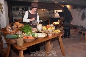 Küchenleben auf  der Leisniger Burg Mildenstein