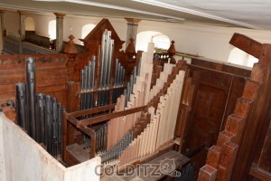 Die restauriert Erlbacher Orgel von innen